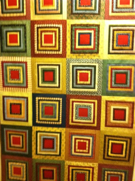 pleated log cabin quilt style