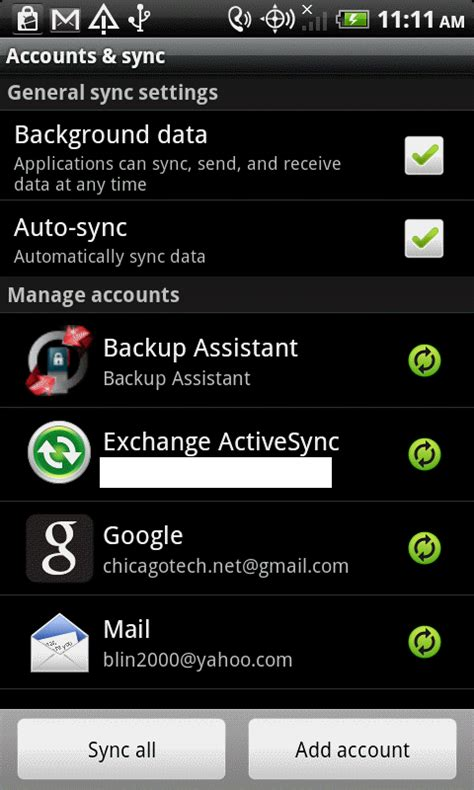 how to change account on android how to change exchange password in android devices step by step with screenshots