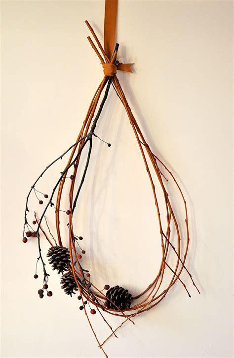 diy twig wreath canoe design decorations all round