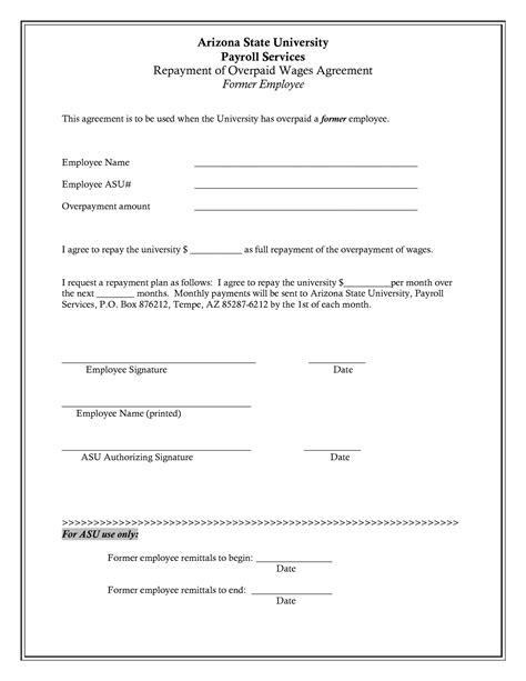 10 best images of simple repayment agreement form