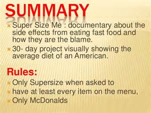 Supersize Me Essay by Size Me