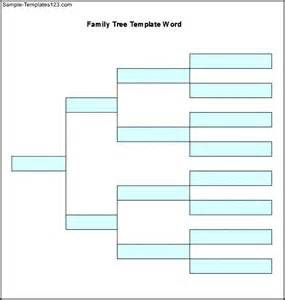 template for family tree word sle family tree template word free sle templates