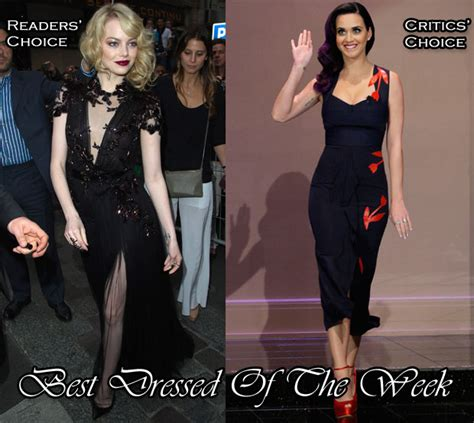 emma stone katy perry best dressed of the week emma stone in gucci katy
