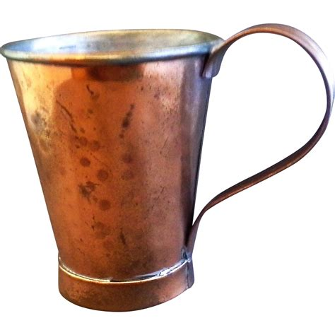 hammered copper mugs hammered copper mug stein signed arts crafts style tin lined from hoosiercollectibles on ruby