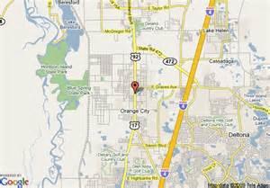 map of comfort inn orange city orange city