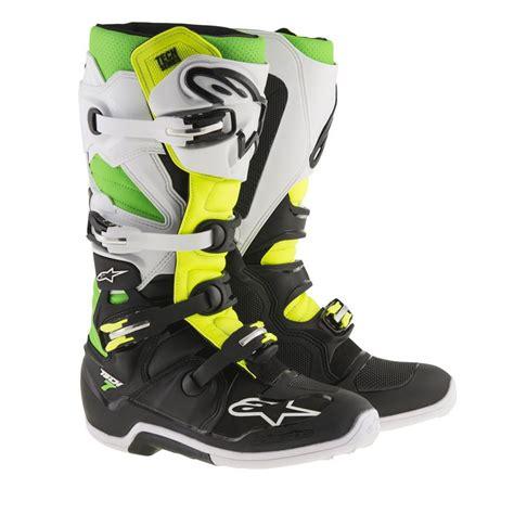 Alpinestar Boots Green alpinestars tech 7 mx boot black white green yellow fluo