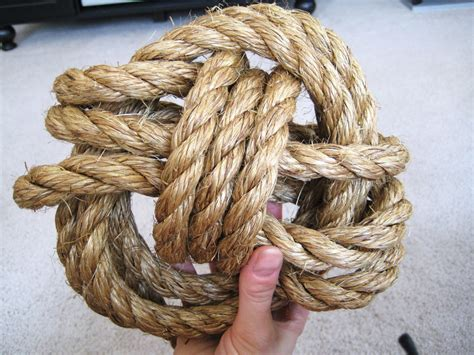 maine home rope knot bookend diy