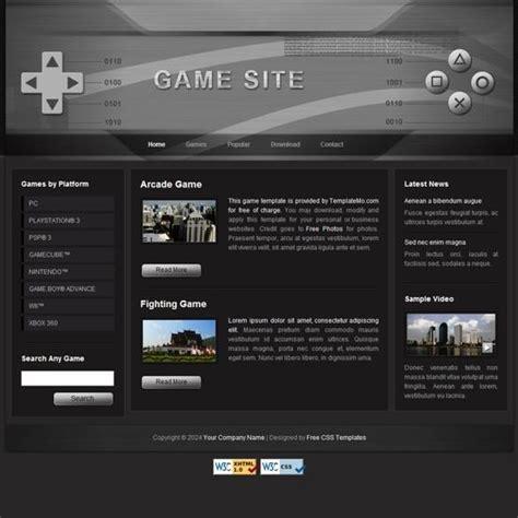 подборка бесплатных Html Css веб шаблонов Arcade Website Template