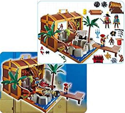 Figure Model Kit Playmobil Pirate Treasure Hideout 5737 pirate treasure chest playmobil co uk toys
