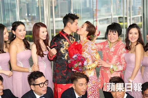 hong kong actress wedding hong kong actress tavia yeung actor him law at the