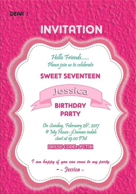 jual kartu undangan ulang  invitation card sweet
