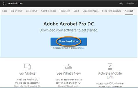 install the full version of adobe acrobat download and install acrobat dc subscription on a computer