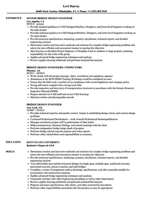 Bridge Design Engineer Sle Resume by Bridge Design Engineer Sle Resume Sle Receptionist Resumes