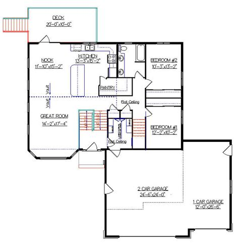 bi level house plan with a bonus room 2010542 by e designs split ebtry pinterest bonus