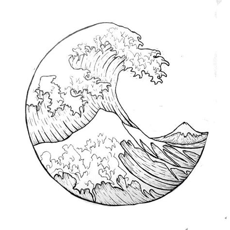 wave outline tattoo quot the great wave quot outline i want it as a tatuajes