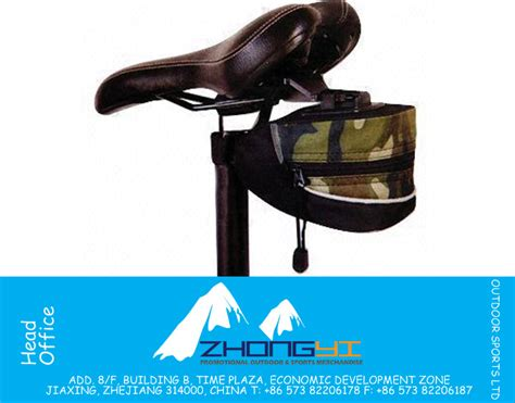 600d polyester camo saddle bag with pvc pipe zybm bs005
