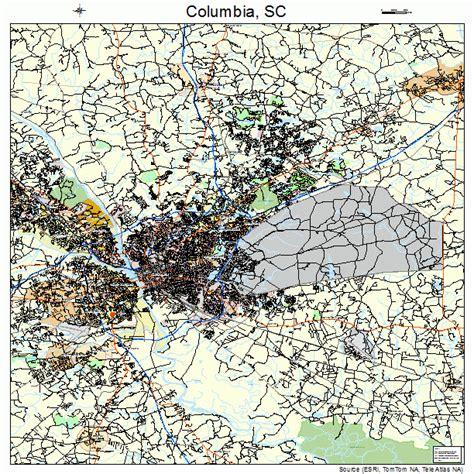 columbia sc map columbia south carolina map 4516000
