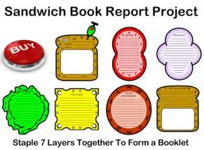sandwich book report template sandwich book report project templates printable