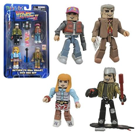 Figure Plat Set 4np2 back to the future 30th hill valley minimates box set select back to the future