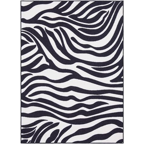 Zebra Area Rug 8x10 Ottomanson Pink Collection Animal Print Design Zebra 8 Ft 2 In X 9 Ft 10 In Area Rug Pnk7053