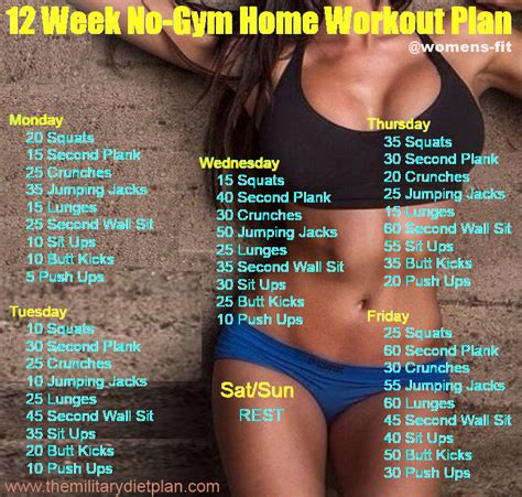 12 week no gym home workout plans military diet women s fit 12 week no gym home workout plans