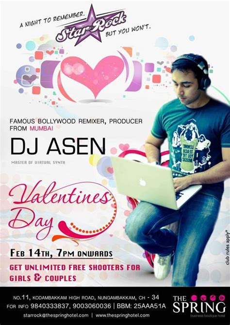 feet with great valentines offers from the star stable official shop star rock pub chennai valentine programs valentine bash