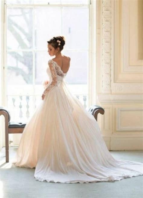 Amazing Wedding Dresses by Amazing White Wedding Dress With Lace Sleeves 2029533