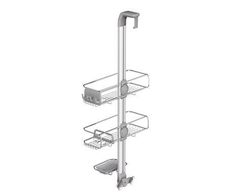 stainless steel shower caddy the door simplehuman door stainless steel shower caddy organizer