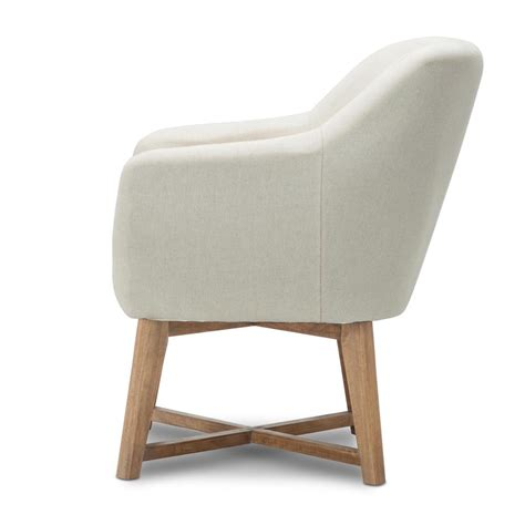 Tub Armchair by Fabric Tub Lounge Armchair Beige