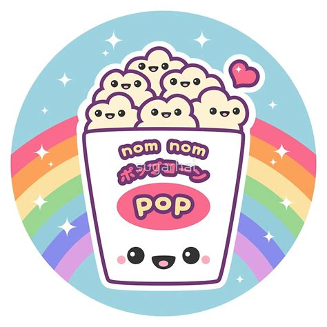 Stiker Evos Small Size quot kawaii popcorn quot stickers by sugarhai redbubble