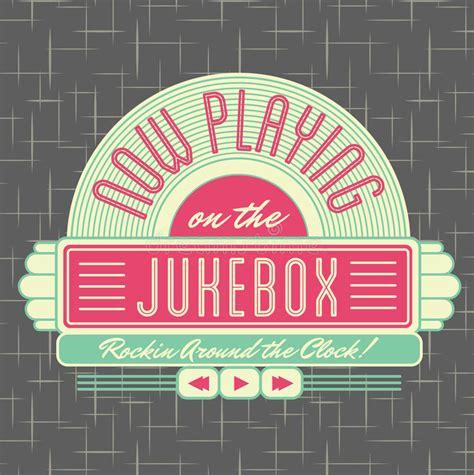 50s design 1950s jukebox style logo design stock vector