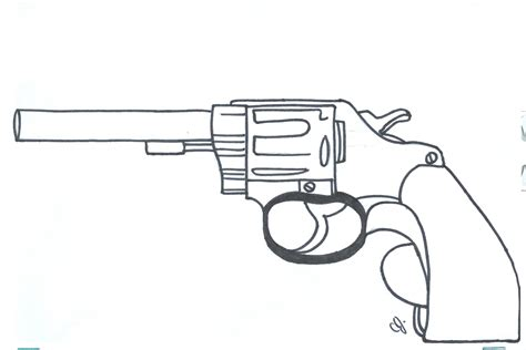 Free Coloring Pages Of Pistol Gun