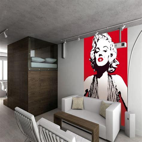 1 wall wallpaper mural marilyn pop 1 58m x 2 32m