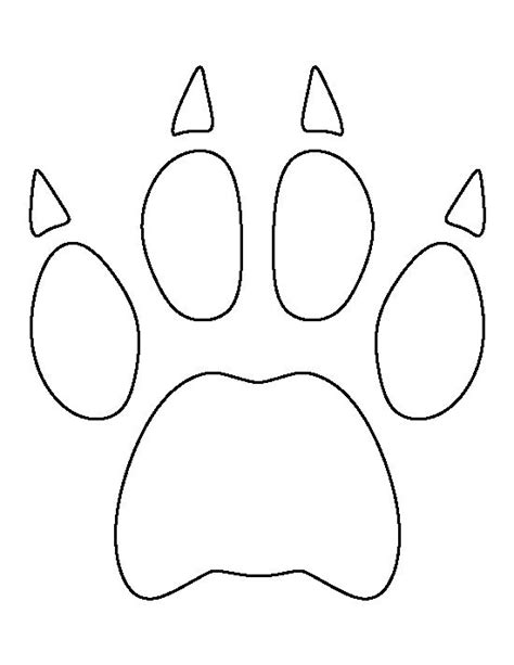 Bobcat Paw Print Pattern Use The Printable Outline For Paw Print Templates