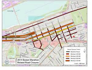 Boston Street Parking Map by Street Closures Amp Parking Restrictions For Marathon Monday