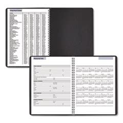weekly appointment book    black  gateway
