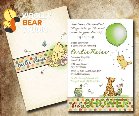 Vintage Winnie The Pooh Baby Shower by Printable Classic Winnie The Pooh Baby Shower By