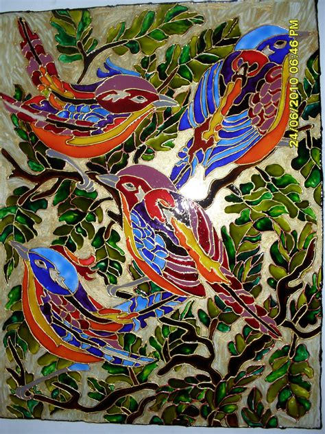 glass painting bird glass painting sheebaclement s