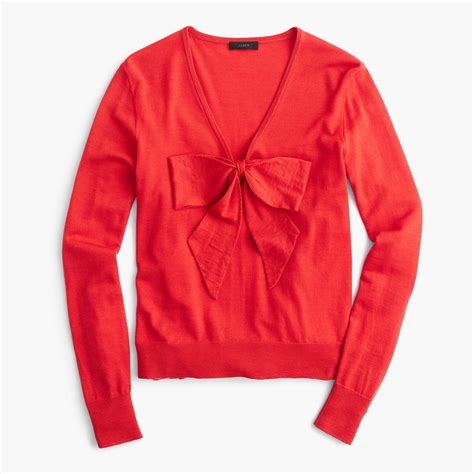 Bow Sweater lightweight wool bow sweater sweaters j crew