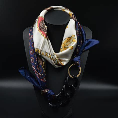 aliexpress buy silk scarf necklace acrylic pendant