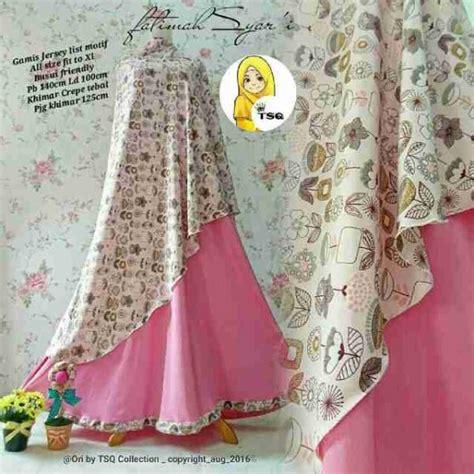 Baju Gamis Fatimah Pink gamis modern fatimah syar i b061 model baju muslim baru
