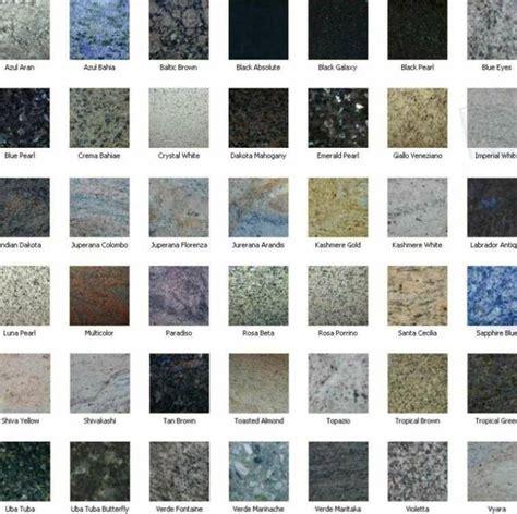 granite color names granite colors and names