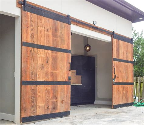 Nobody Said Our Barn Doors Have To Stay Inside They Look Garage Doors For Barns
