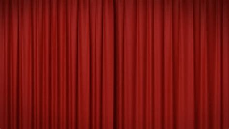 red drapery opening and closing red curtain stock footage video
