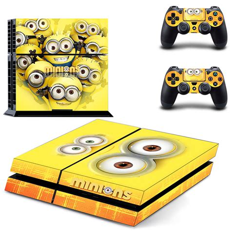 home design games ps4 minions ps4 skin sticker decal made pvc console and