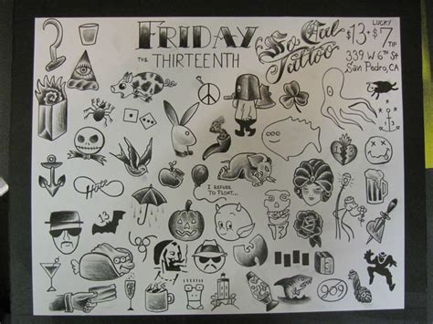 friday the 13th tattoos san diego friday 13th flash socal san pedro ca tats