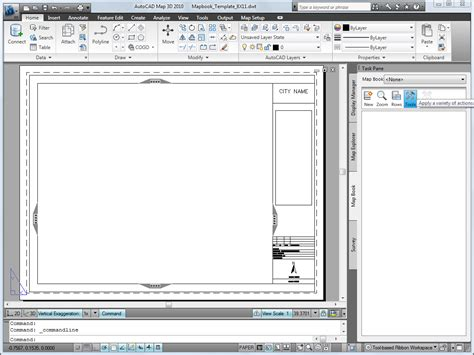 templates in autocad 2010 setting up a map book template