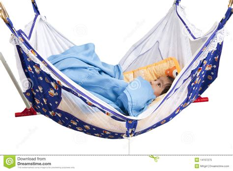 Baby Hammock Sleeper by Baby Sleeping In A Hammock Style Cradle Stock Image