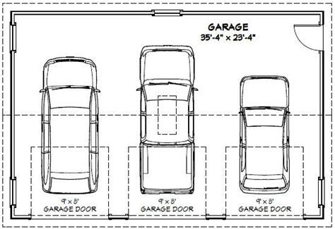Size Of A 3 Car Garage Size And Layout Specifics For A 3 | garage dimensions google search andrew garage