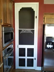 screen pantry door with chalkboard for the home